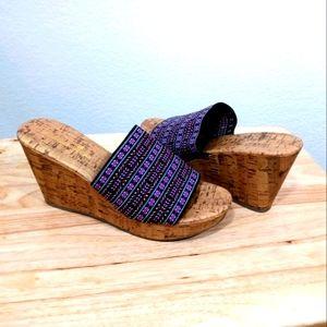 Montego Bay Club Wedge Cork Heels Sandals